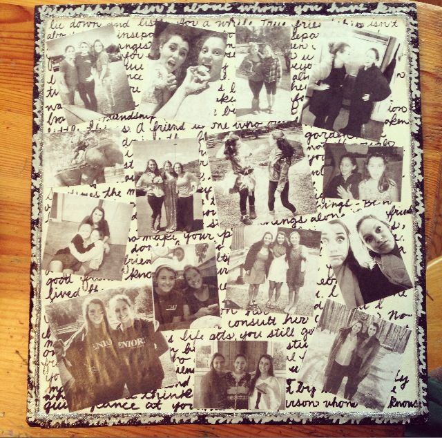 Diy Collage Gift For My Best Friend Things To Make