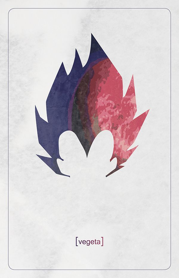 A personal design project using Minimalist style in combination with Akira Toriyama's DragonBall Z