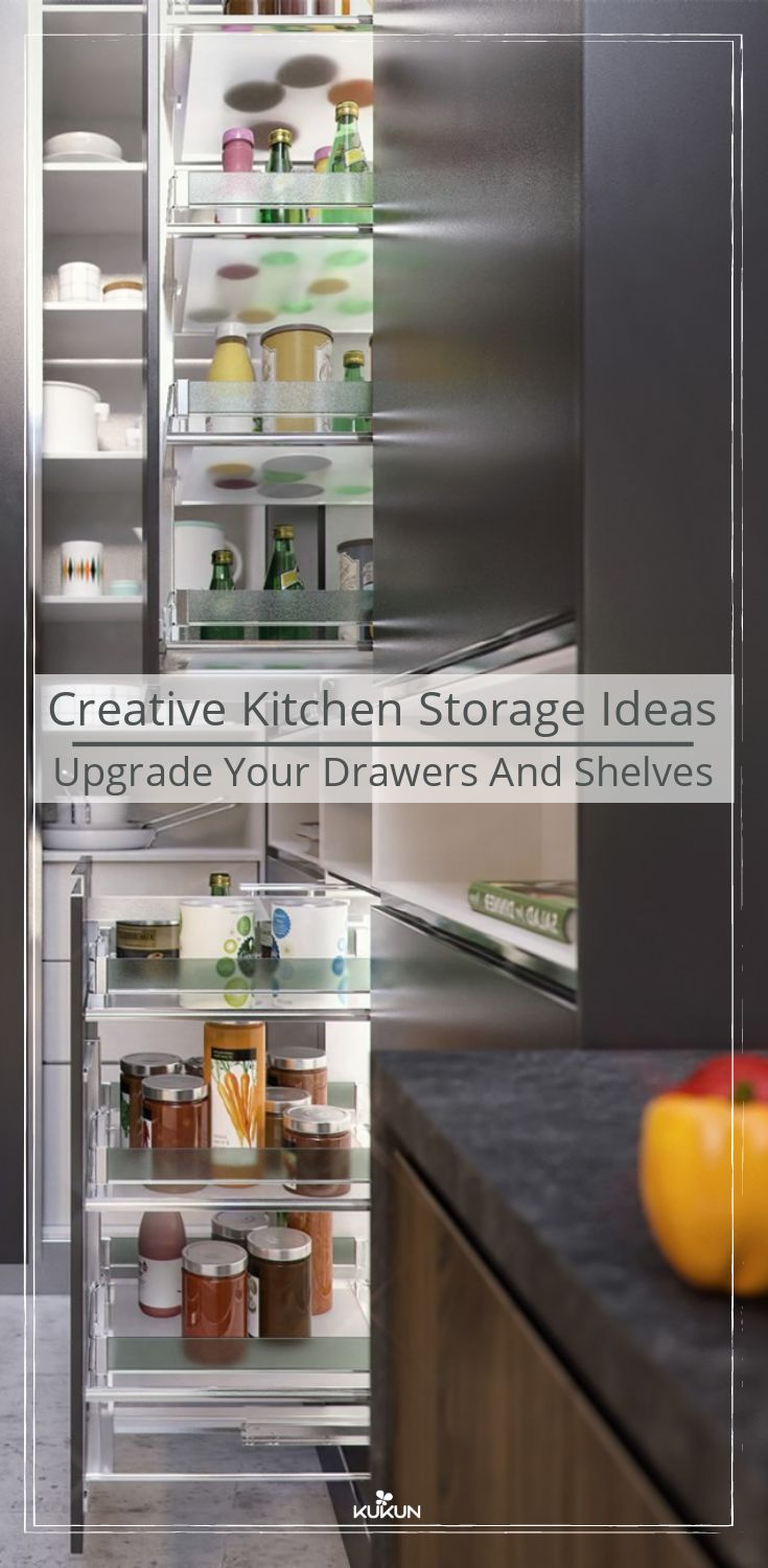 creative kitchen storage ideas upgrade your drawers and shelves rh pinterest com