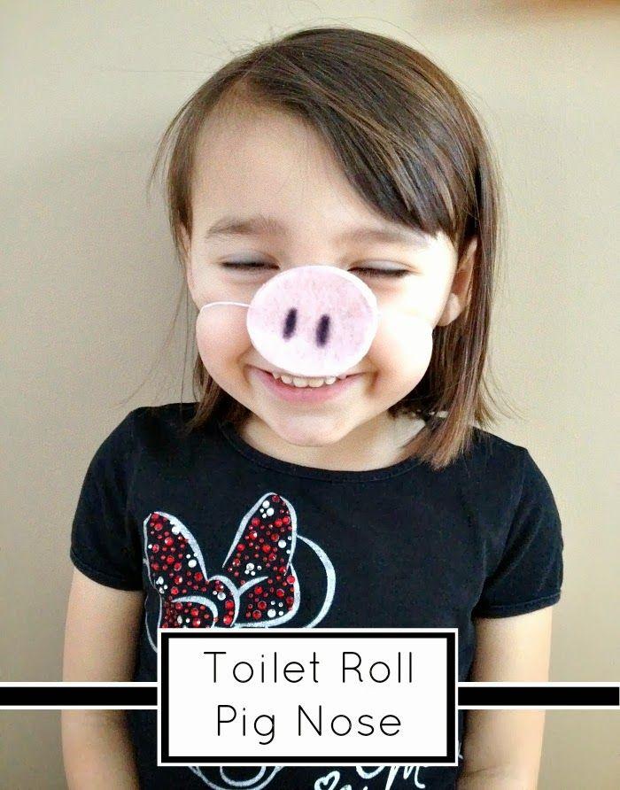 Tutus and Tea Parties: Cardboard Toilet Tube Craft | DIY Pig Nose