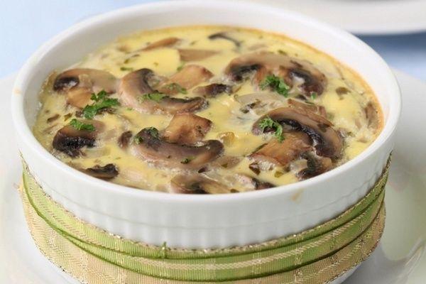 Жульен с картофелем, курицей и грибами
