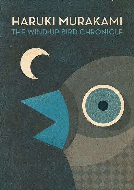 "Book Cover Design: ""The Wind-Up Bird Chronicle"" - Haruki Murakami"