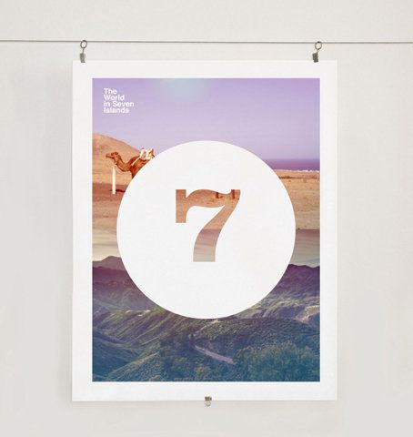 Number seven: Graphic Design, Design Inspiration, Print Design, Lucky Numbers, Art, Poster, Letters Numbers, Islands Visual, Editorial Design