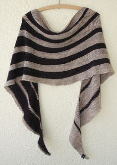 Nice variation on a striped shawl.  Ravelry: Pendulum pattern by Amy Miller