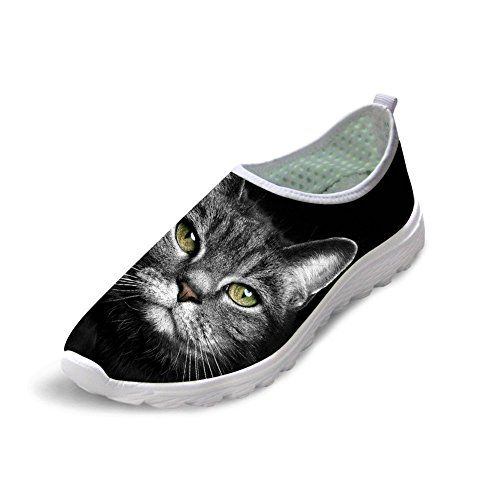 Black Cat Bring Luck Giant Lightweight Breathable Casual Sports Shoes Fashion Sneakers Shoes