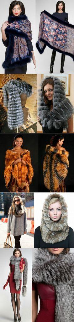 Меховые шарфы воротники палантины | Мех и кожа. | Постила
