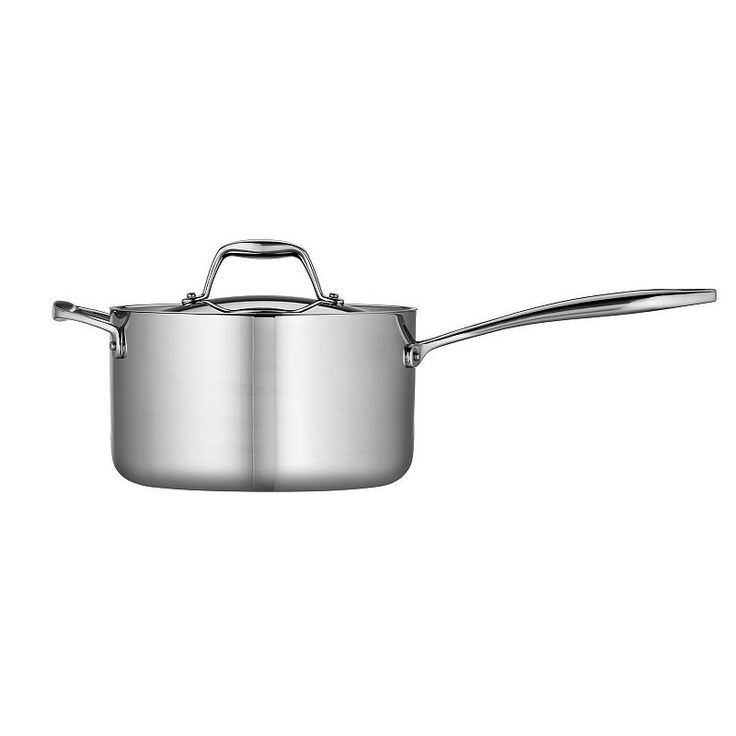 Tramontina Gourmet Tri-Ply Clad Stainless Steel 4-qt. Saucepan, Grey