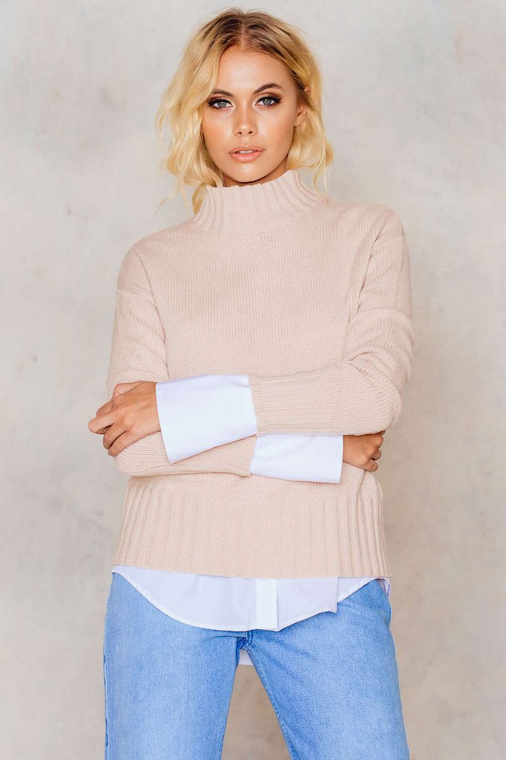 Rounded Knitted Sweater