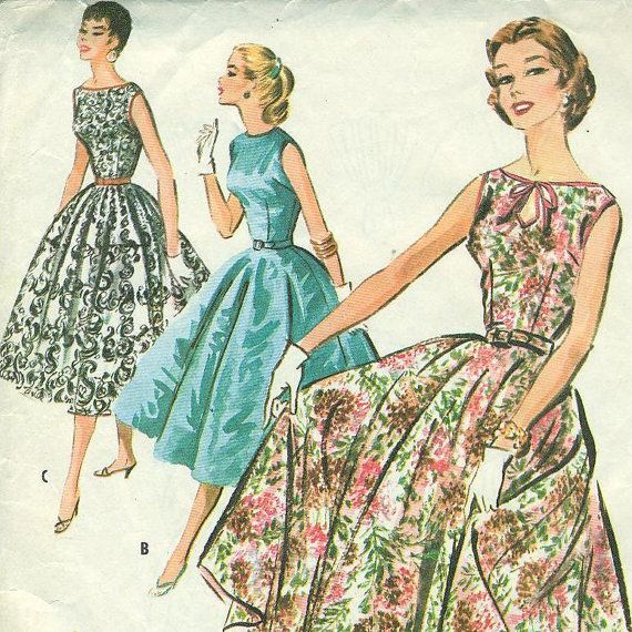 McCall's 3660 Rockabilly Party Dress with Full by PatternPeddler, $9.99