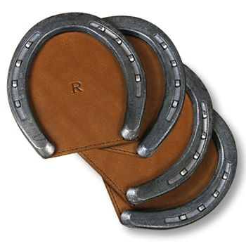 Horse Shoe coasters, would look great with your brand in the center!