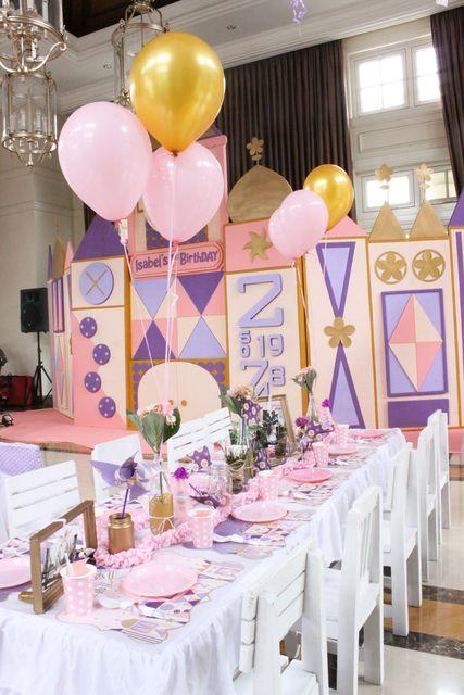 It 39 s a small world birthday party ideas disney for Small birthday party ideas for adults