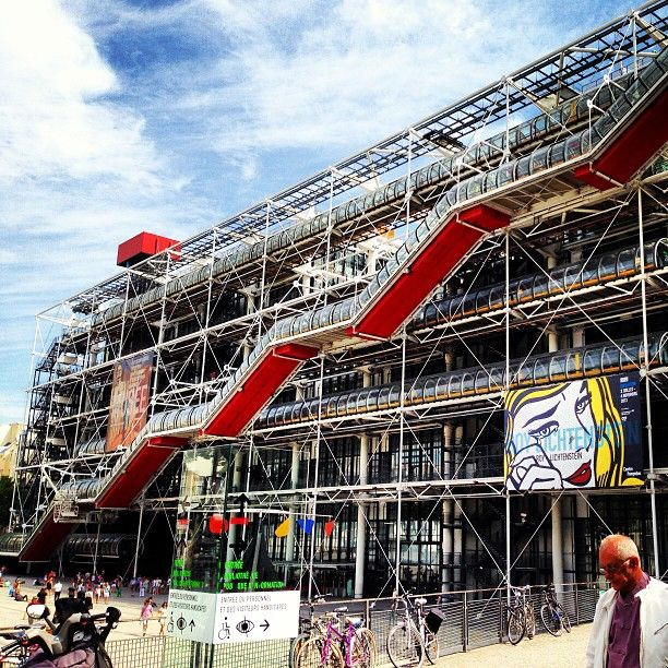 Dans le centre pompidou il ya la bibliotheque et le mus e - Centre george pompidou architecture ...