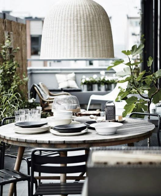 Perfect dining settings alfresco and indoors