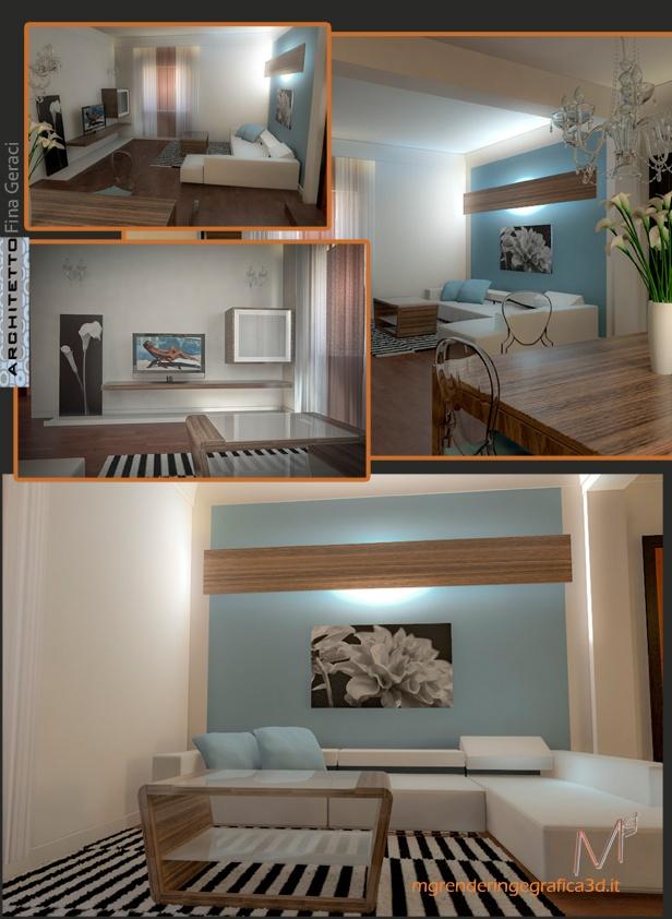 Render living room Arca