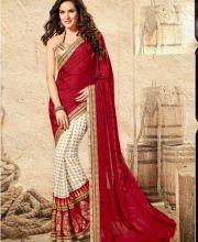 Latest Chiffon, Jacquard & Net Indian Designer Saree Collection 2015 For Girls