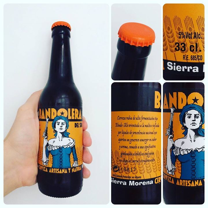 La Cerveza del Viernes: Sierra Morena de @Bandolera_cerv.  Sabor a maltas tostadas con un buen punto de lúpulo dejando marcado amargor y un poco dulce.
