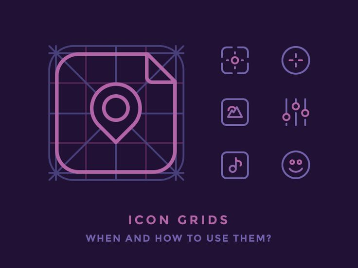 Creation of app icons performed within guides and grids