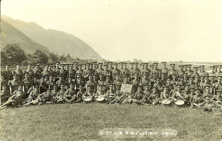 6 RWF B Coy Summer Camp Conway 1914.
