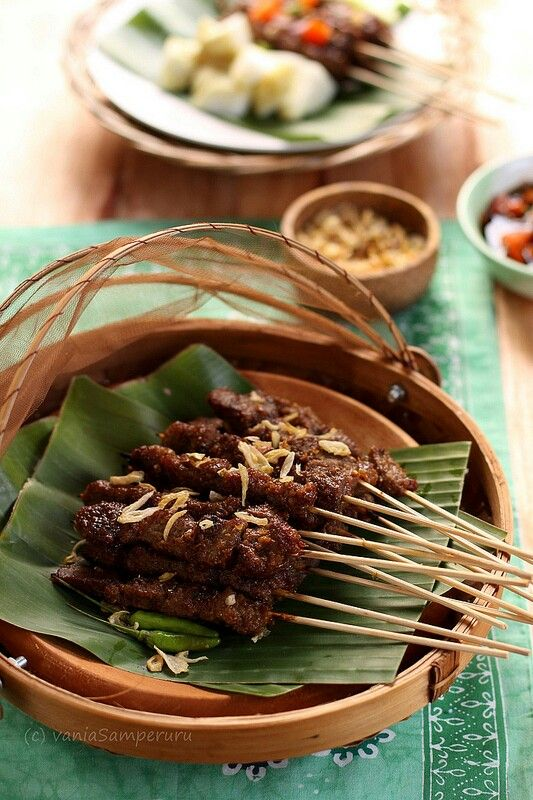 Sate Maranggi. Beef satay special from west java, Indonesia.