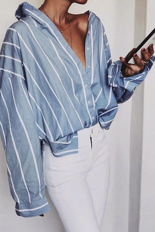 25+ Ways To Style A Button Down Shirt