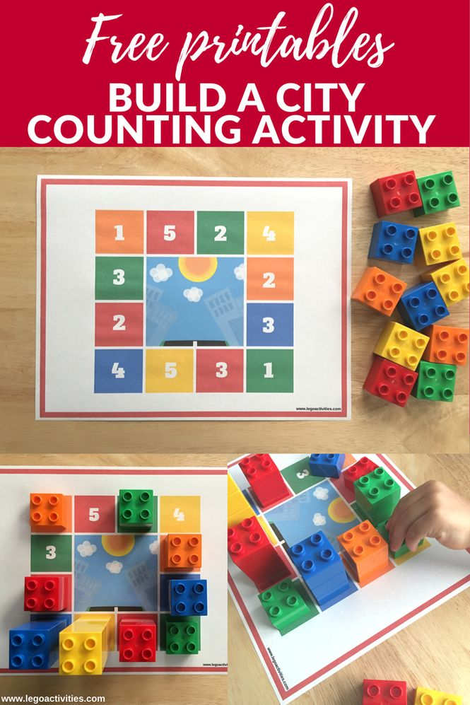 Build a city counting activity with LEGO DUPLO | Construye una ciudad contando ladrillos LEGO | www.legoactivities.com