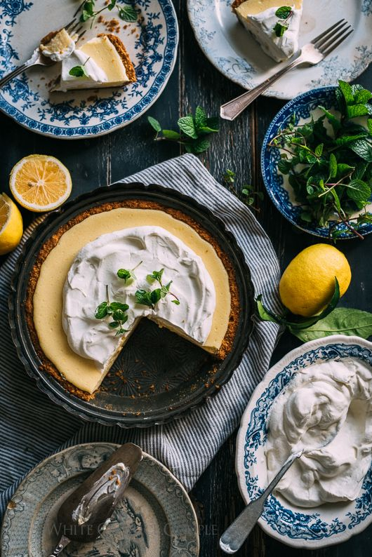 Meyer Lemon Pie Recipe is Favorite Lemon Pie Ever | @whiteonrice