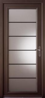 Portes d'entrée contemporaines  vitrées Lotus aluminium
