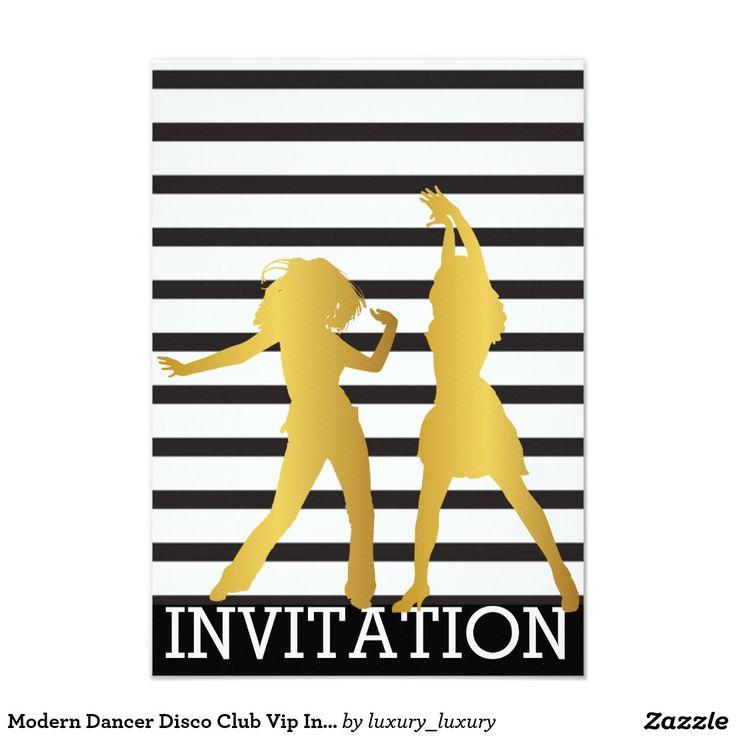 Modern Dancer Disco Club Vip Invitation | Zazzle.co.uk
