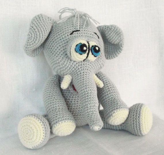 Amigurumi Elephant Crochet Pattern Animal by LovelyBabyGift
