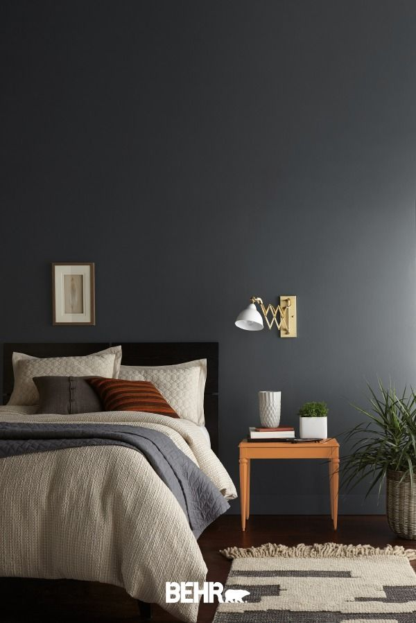 Color Of The Month Graphic Charcoal Colorfully Behr In 2020 Bedroom Paint Colors Master Gray Accent Wall Bedroom Grey Bedroom Colors