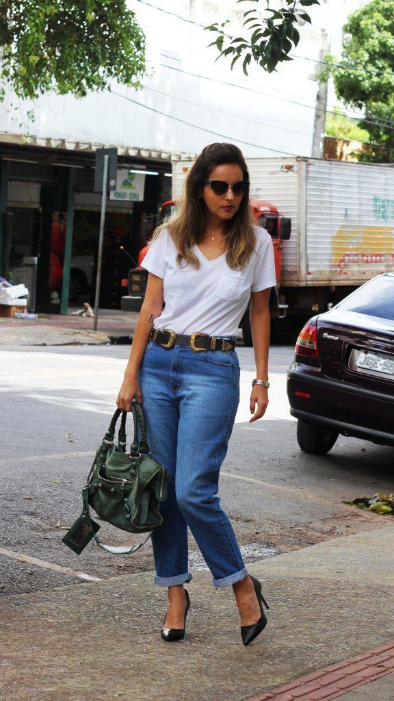 Look da Camis   Camila Gomes   Sim, Senhorita   Blusa C&A, calça Marisa, Cinto Feira Hippie, Scarpin Zara, Bolsa Balenciaga, Óculos Dolce and Gabbana
