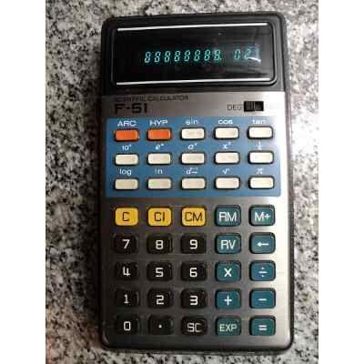 Ant Calculadora Cientifica Canon Palmtronic F-51 Japan 1977 - $ 1.500,00 en Mercado Libre
