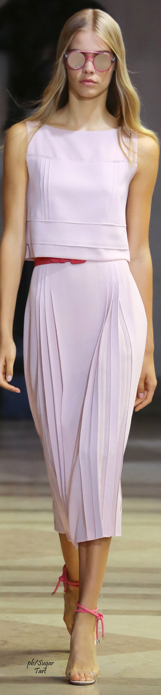 Carolina Herrera Spring 2016 RTW women fashion outfit clothing stylish apparel @roressclothes closet ideas