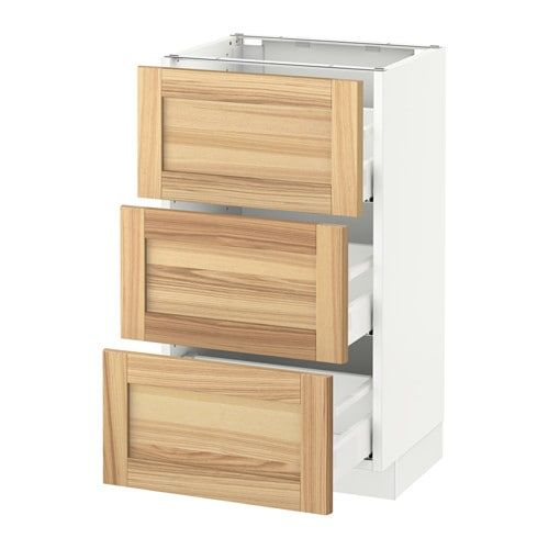 sektion base cabinet with 3 drawers white maximera bodbyn gray in rh pinterest com