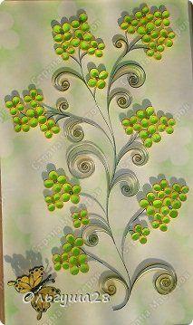 Картина панно рисунок Квиллинг Весенняя Бумажные полосы фото 2