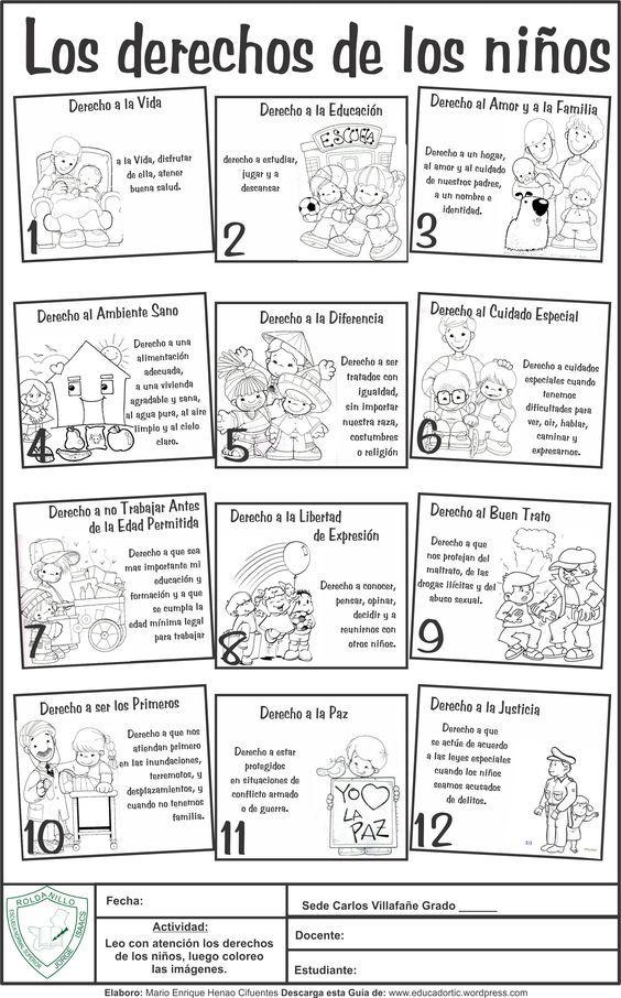 Guía para desarrollar con los niños de básica primaria, sobre los derechos del niño. Elaborada por: Mario Enrique Henao Cifuentes - Docente Normal Superior Descargar en PDF