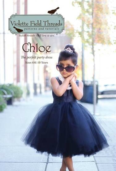 Robe de princesse fillette patron Chloe de Violette Field Threads