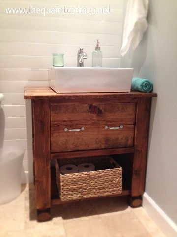 The Quaint Cottage: DIY Vanity Sink Base