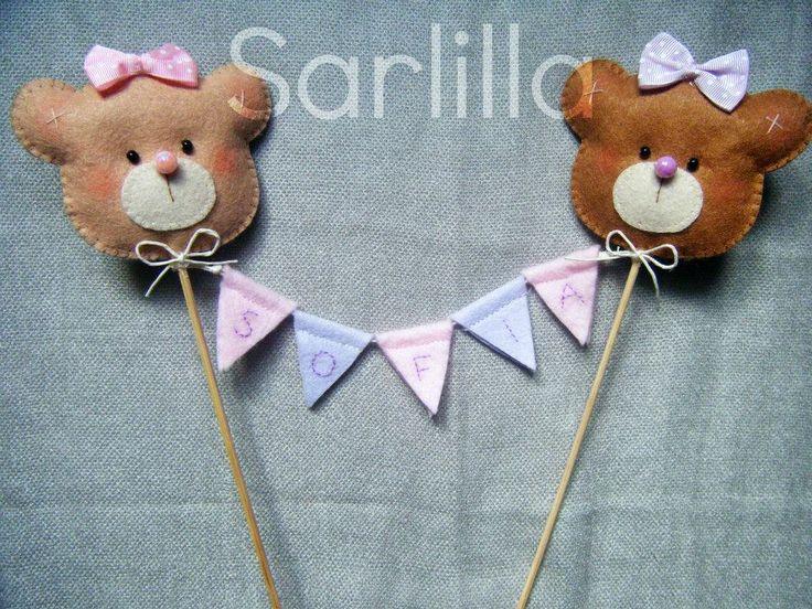 Le creazioni di Sarlilla: 29 dicembre 2013 - 1 anno ♥ Cake topper con orsetti per la mia bimba
