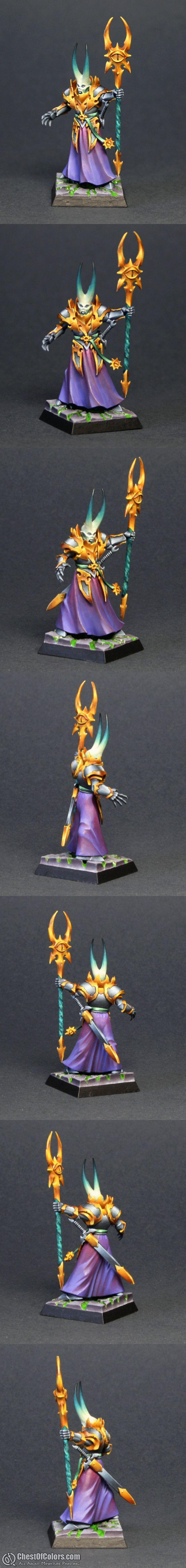 Tzeentch Sorcerer #Warhammer