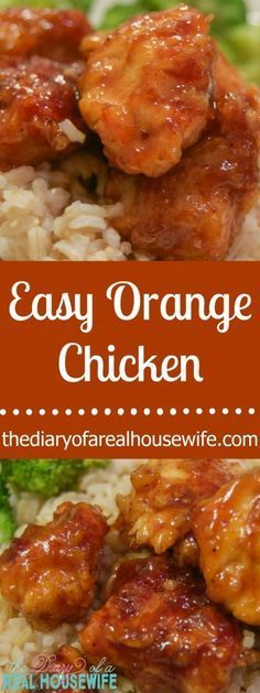 You will not believe how EASY this orange chicken is to make and it taste just as good as take-out. Only 3 ingredients in the sauce!!
