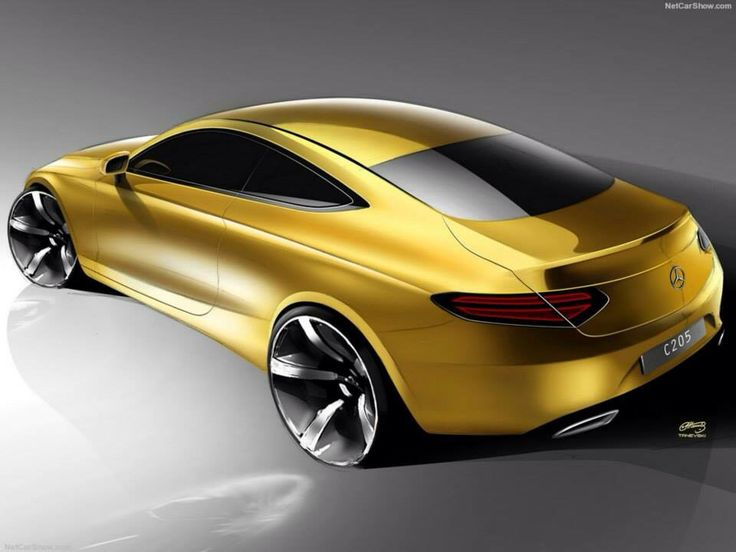 mercedes-Benz cklass coupe official sketch!