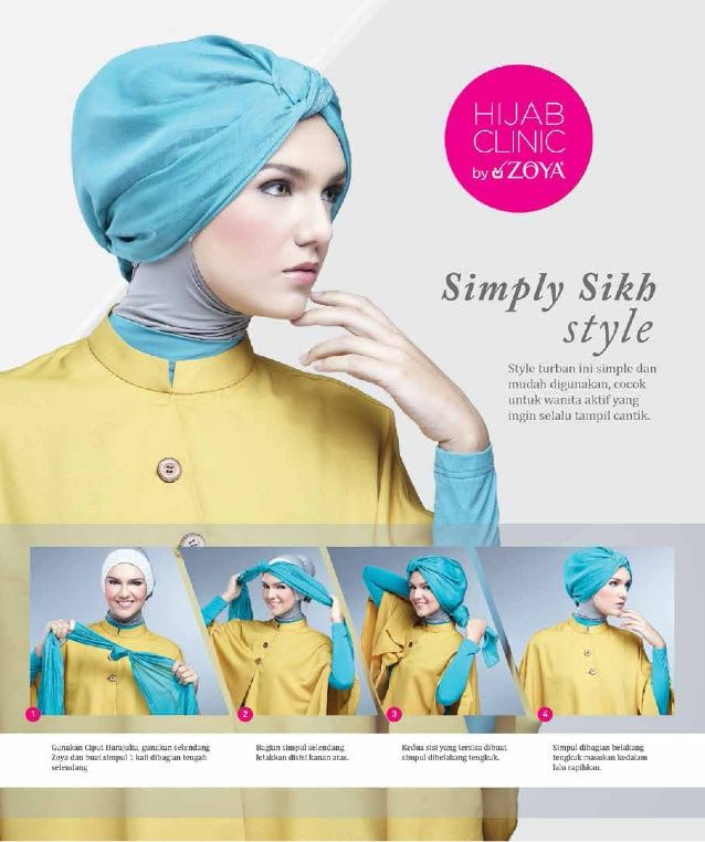 Hijab tutorial zoya simply sikh style Uploaded By KerudungBandungDotCom