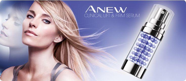 AVON ANEW Clinical Lift & Firm Pro Serum mit Lifting-Effekt.  Die Revolution mit Lifting-Effekt von jedem Blickwinkel aus. Das Serum zur äußerlichen Anwendung mit professionellen Wirkstoffen hilft im Nu, die Haut straffer und wie geliftet aussehen zu lassen.