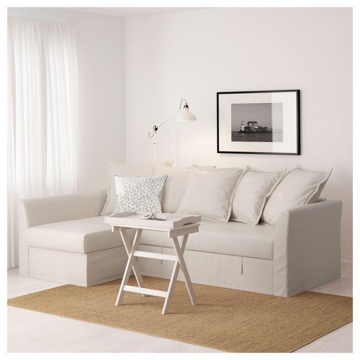 IKEA  HOLMSUND Corner sofabed Nordvalla beige  Bankstel