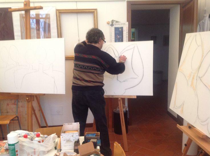 I create #wip #personaggifamosi #rome #calcata #workshop