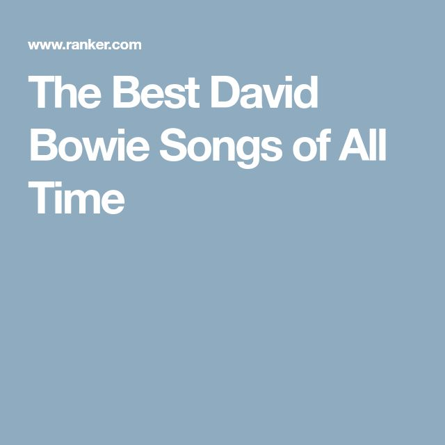 The Best David Bowie Songs of All Time