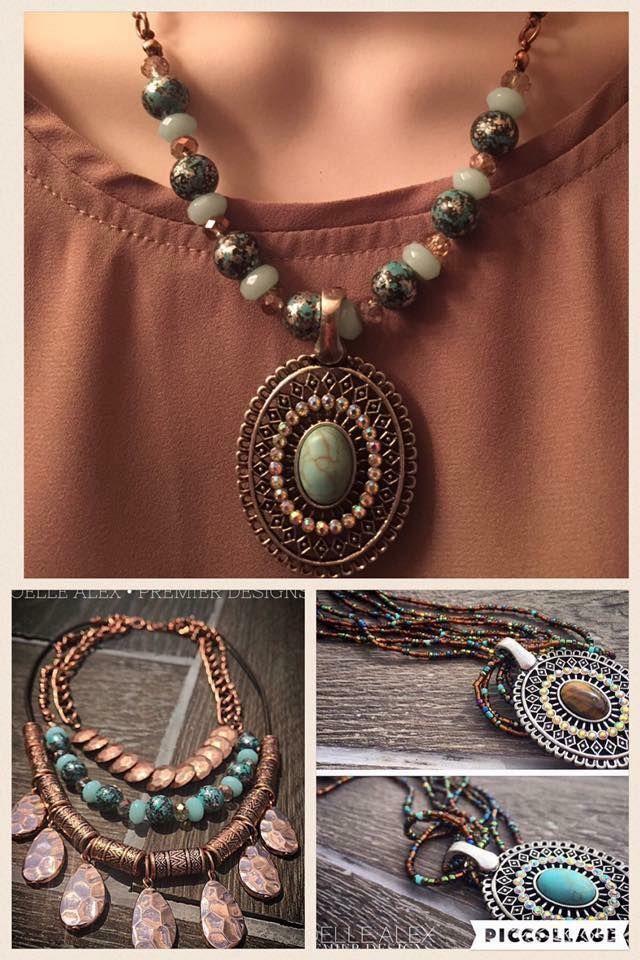 Premier Designs Prestley Necklace strand with Autumn Sunset Enhancer!!  Itssodelightful.com
