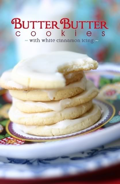 Butter Cookies with Cinnamon Frosting