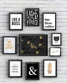 Aujourd'hui samedi, je vous propose de faire chauffer l'imprimante (oui encore!) avec 10 posters black and gold :) Ils seront parfait dans une chambre, un salon, à vous de piocher celui qui vous co...